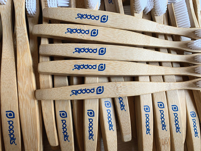 bamboo toothbrush custom print logo
