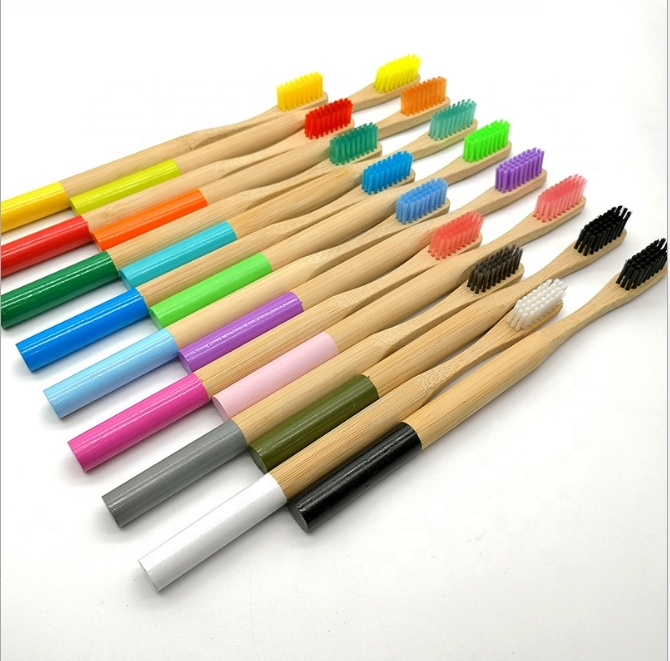 Natural Toothbrush With Durable Wooden Handles