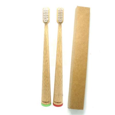 mini eco-friendly bamboo toothbrush 100% biodegradable
